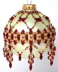 January Garnet Ornament Cover Pattern