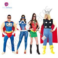 Disfraces para grupos Heroes En mercadisfraces tu tienda de disfraces online, aquí podrás comprar tus disfraces para Carnaval o cualquier fiesta temática. Para mas info contacta con nosotros http://mercadisfraces.es/disfraces-para-grupos/?p=7