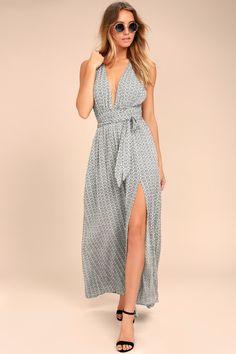 40f7f479f3cdb Maxi Dress - Black and White Print Dress - Halter Maxi Dress Yellow  Sundress, Sundress