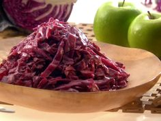My Grandma's Braised Cabbage Recipe : Melissa d'Arabian : Recipes : Food Network Sauteed Red Cabbage, Red Cabbage Recipes, Braised Red Cabbage, Side Dish Recipes, Vegetable Recipes, Vegetarian Recipes, Cooking Recipes, Healthy Recipes, Snacks Recipes