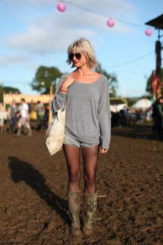 Sam at Glastonbury #Glastonbury #music_festival #style