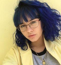 Beautiful blue hair @enjajaja