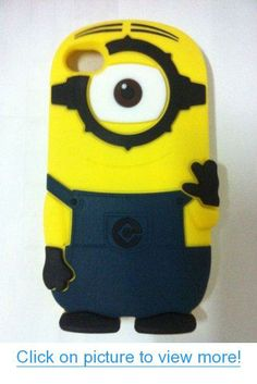 HM-ANT(TM) 3D Despicable Me Minion Case Silicone Protective Defender Cover for iphone 4 4s 4g (NO.2)