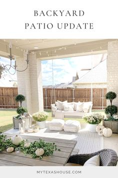 I'm so excited to show you my backyard patio space for the first time in over year and a half! I don't show this space often because my backyard is nothing to write home about. However, we are working…little by little….to create a more cozy and comfortable space to spend some time outside. Outdoor Rooms, Outdoor Living, Outdoor Patios, Outdoor Kitchens, Patio Decorating Ideas On A Budget, Patio Ideas, Porch Decorating, Outdoor Patio Decorating, Backyard Patio Designs
