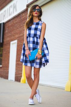 RED, WHITE, AND BLUE GINGHAM