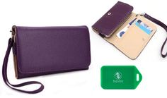 LG LG Nexus 4 LG Mako Universal Ladies wristlet wallet in Purple Plus bonus Neviss luggage tag *** More info could be found at the image url.Note:It is affiliate link to Amazon.