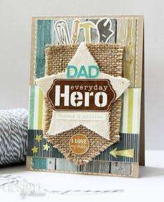 "Dad ""HERO"" card by dianaj1012? Perfect for mini album cover!"