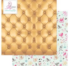 Papier double 30x30 'Webster's Pages - Beautiful Chic' Buttoned Up