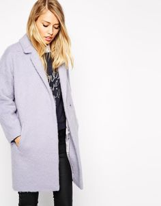 Whistles | Whistles Ira Textured Cocoon Coat at ASOS
