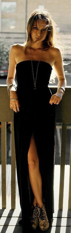 Vestido tubinho preto e longo - http://vestidododia.com.br/modelos-de-vestido/vestidos-tubinho/vestidos-tubinho/
