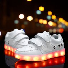 fb5b8aad5750 Fashion 7 Colors Kids Sneakers USB Charging Luminous Lighted Sneakers Boy  Girls Colorful LED Children Shoes size 25-37
