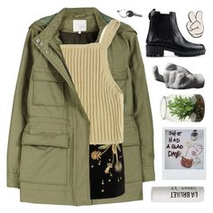 """YOU LEFT IN PEACE"" by wi-fi-li-fe ❤ liked on Polyvore featuring moda, Joie, Topshop Unique, RED Valentino, Areaware, L:A Bruket, Maison Margiela, Anya Hindmarch, women's clothing i women's fashion"