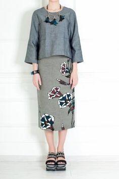 Брендовая одежда дизайнерская юбка в стиле