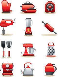 Super ideas for kitchen utensils clipart clip art Ma Baker, Kitchen Icon, Coffee Icon, Recipe Scrapbook, Cooking Supplies, Clip Art, Kitchen Utensils, Kitchen Tools, Kitchen Post