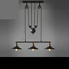 Retro Chandeliers Personality Innovative Style Of Lift Chandeliers Minimalist American Rural Study Living Room Restaurant Cafe Lamps, 31W( )-40W( Included) - - Amazon.com