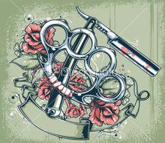 stock-illustration-16326697-brass-knuckles-straight-razor.jpg (380×331)