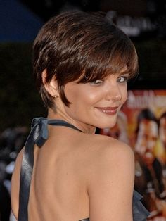 Katie Holmes Short Pixie Hairstyle