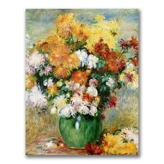Pierre Renoir 'Bouquet of Chrysanthemums' Art (24x18 'Bouquet of Chrysanthemums' art)