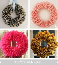 a few tutorials for lovely wreaths