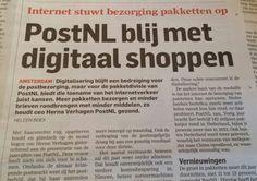 Postnl blij met digitaal shoppen. Daar verdienen ze nog aan. Algemeendagblad 24 februari 2015