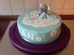 Blaue Torte   Elefant aus Fondant   Geburtstagstorte   2. Geburtstag   Junge   Fondanttorte