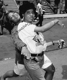 Queen Latifah & MC Lyte Aw and they're still friends she's the dj on the queen latifah show!