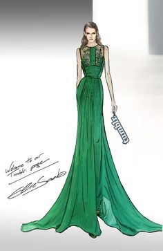 Elie Saab Fashion Sketch