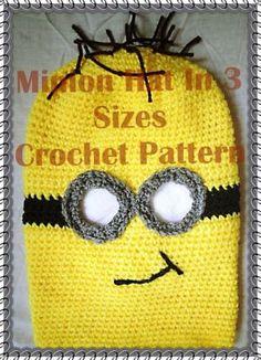 Minion Hat in 3 Sizes Crochet Pattern
