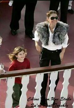 Rene-Charles et sa maman
