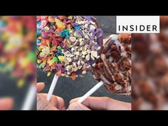 Nitrolado makes churro lollipops and churro ice cream bowls - YouTube
