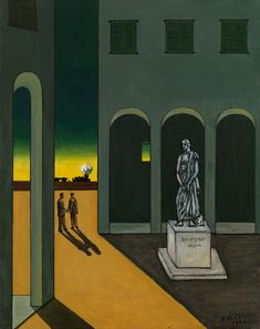Even though Giorgio de Chirico had moved on from his metaphysical period, the public hadn't. So the Italian artist decided to have a little fun. Italian Painters, Italian Artist, Traditional Paintings, Paintings I Love, Art Design, Art Plastique, Impressionism, Les Oeuvres, Art History