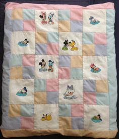 Edredon Quilt Patchwork Disney Baby