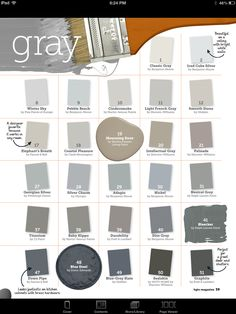 Interior Paint Color and Color Palette Ideas with Pictures - Home Bunch Interior Design Ideas Interior Paint Colors, Paint Colors For Home, Paint Colours, Grey Colors, Light Grey Paint Colors, Gray Interior, Muted Colors, Paint Schemes, Colour Schemes