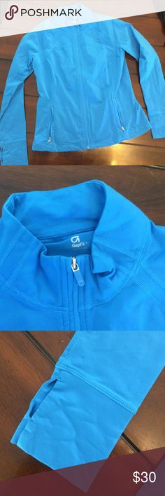 Electric blue running jacket Electric blue running jacket. Full zip. Two zip pockets. Thumb holes on sleeves. Excellent condition. gapfit Jackets & Coats