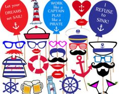 Sailor Party Photo Booth Prop Nautical Party Photo от Cutieparty