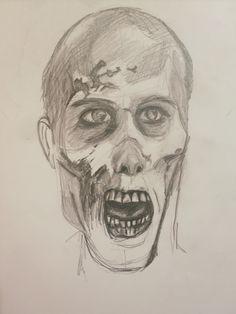 zombie- dibujo a lápiz
