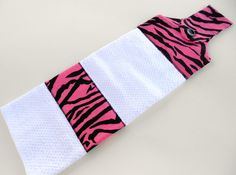 Fun and funky hot pink zebra kitchen towel!