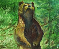 Giclee print of original oil painting painted at Lair of the Bear, Pinecrest, Calif. Copyright 2013, by S. K. Cole, all rights reserved. From my Etsy shop.