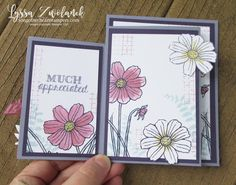 Fourfold Four fold card Stampin Up DIY inside tutorial