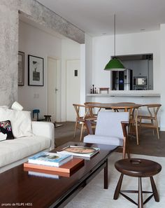 sala de estar integrada #decor #salasdeestar