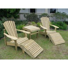 Adirondack Chair Set   When You Need To Create Extra Seating Space In Your  Backyard, Deck Or Patio, This Sturdy Set Is Weathercraft Designers Choice  ...