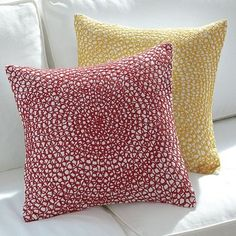 Spiral Embroidery Pillow Covers