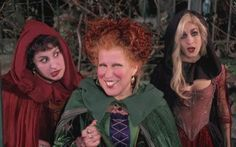 Hocus Pocus 24 Movies For Halloween Lovers That Hate Horror Hocus Pocus Movie, Hocus Pocus Costume, Hocus Pocus Witches, Halloween Movies, Halloween Costumes, Disney Halloween, Halloween Table, Halloween Signs, Halloween Stuff