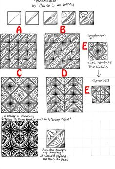 How to CREATE a tangle pattern step-out PART 2 – pattern-collections.com