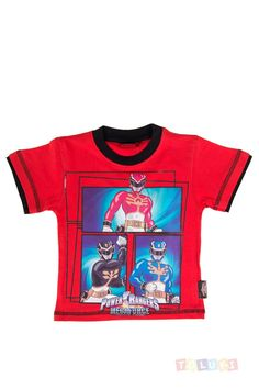 T-shirt Power Rangers rouge #PowerRangers #enfant #Toluki