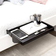 BedShelfie - a Space Saving Nightstand / Black Bamboo (next release date: August)