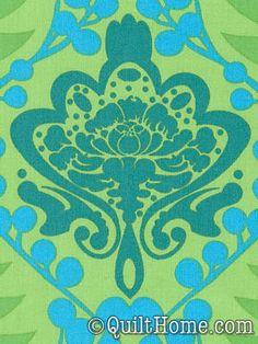 Garden Party AH19-Green Fabric by Anna Maria Horner