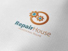 Repair House Logo by fastudiomedia on Creative Market