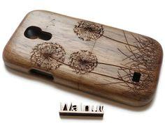 S4 mini wood case - Samsung Galaxy - wooden S4 mini case walnut / cherry or bamboo wood-  Dandelion