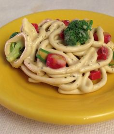 Savory pasta primavera!! Miniature polymer clay food (1/3 scale) for 18 inch dolls (American Girl, etc)